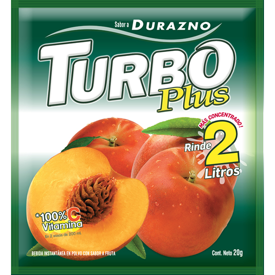 Turbo Plus Durazno Novafoods