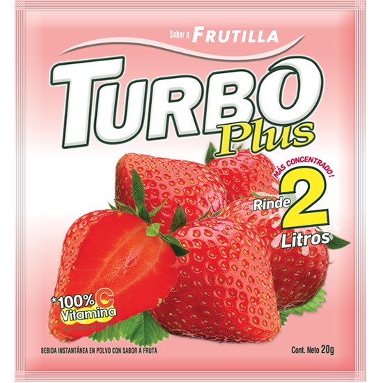 Turbo Plus Frutilla Novafoods