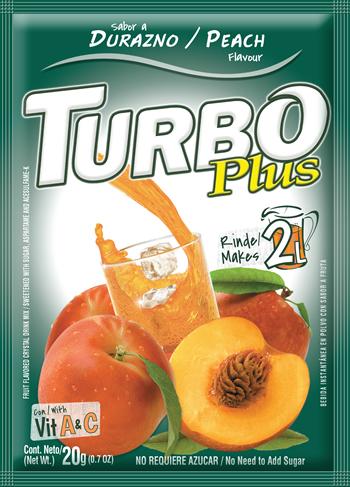 Turbo Plus 20g Durazno