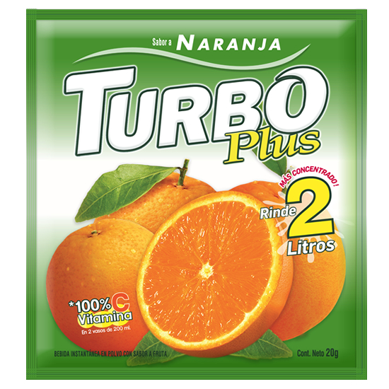 Turbo Plus Naranja Novafoods