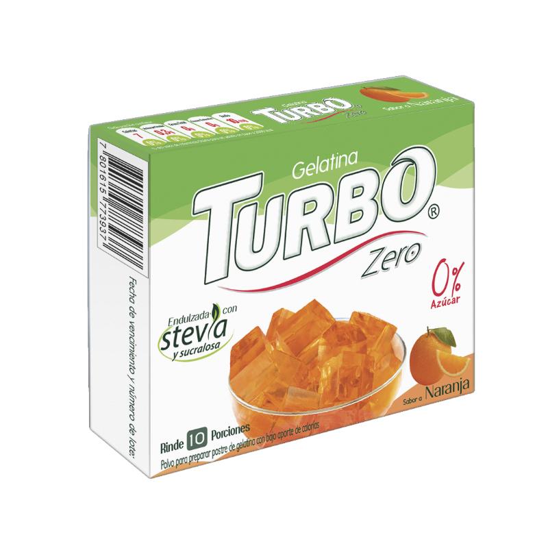 Gelatina Turbo Zero 22g - Con Stevia